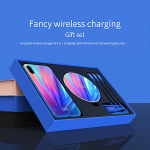 NILLKIN Fancy Wireless Charger Gift Set With iPhone XS Case