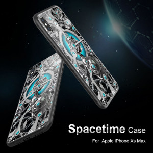 NILLKIN Mechanical Style Tempered Glass Spacetime Protective Case For iPhone XS Max
