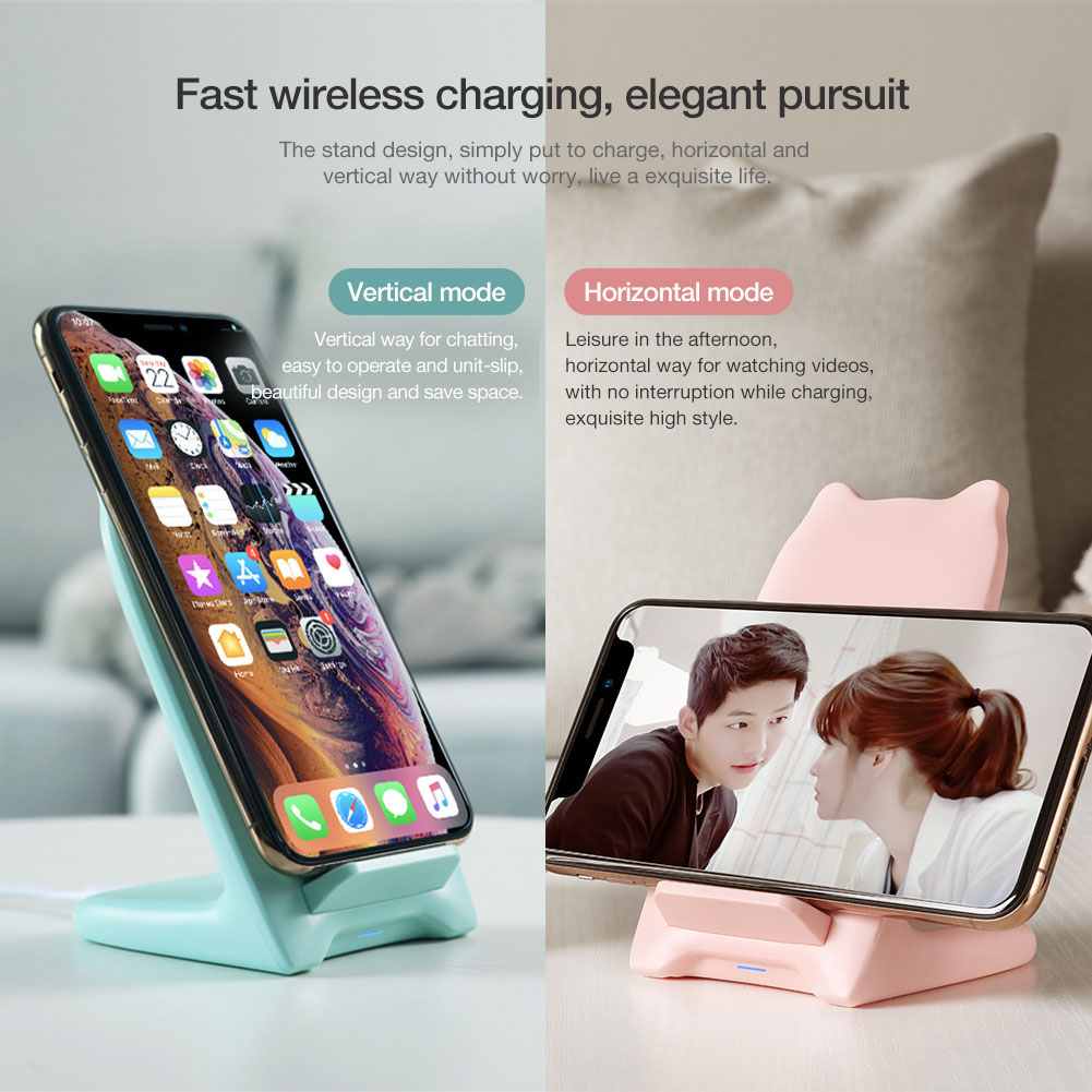 NILLKIN Cute Cat Fast Wireless Charging Stand