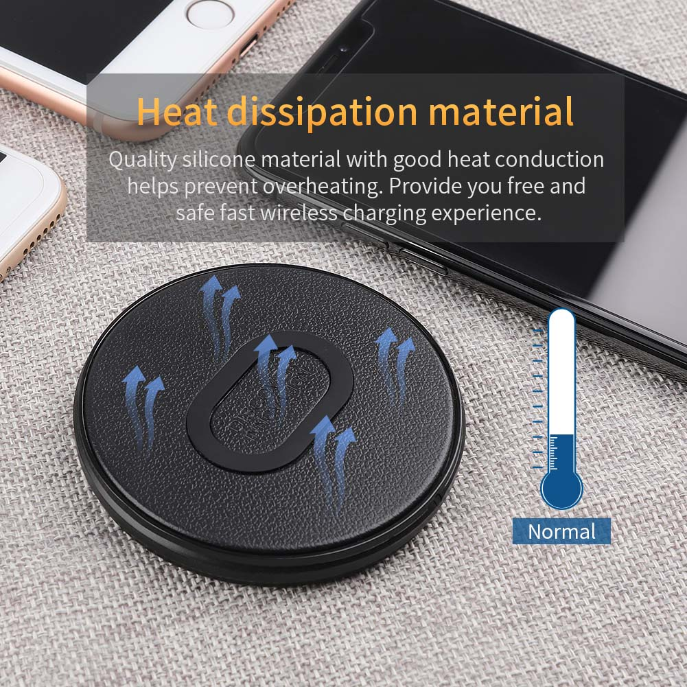 NILLKIN Leather Texture Mini Fast Wireless Charger