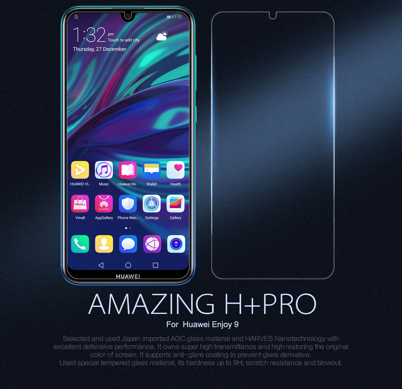 HUAWEI Enjoy 9 screen protector