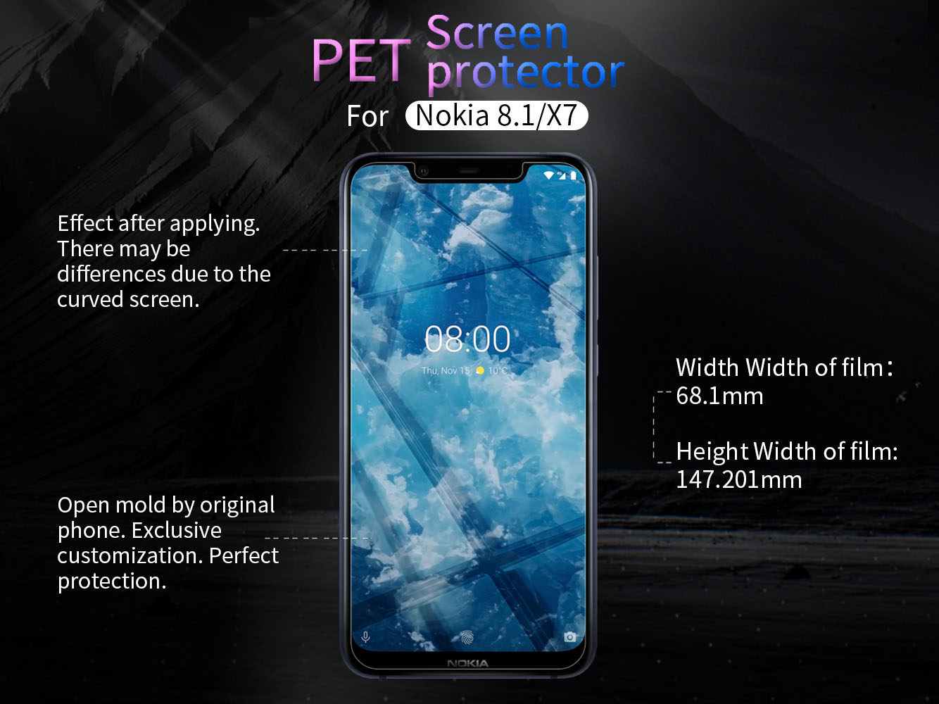 Nokia 8.1 screen protector