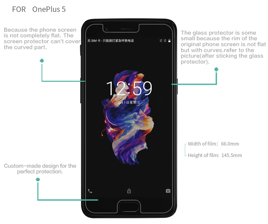 OnePlus 5 screen protector