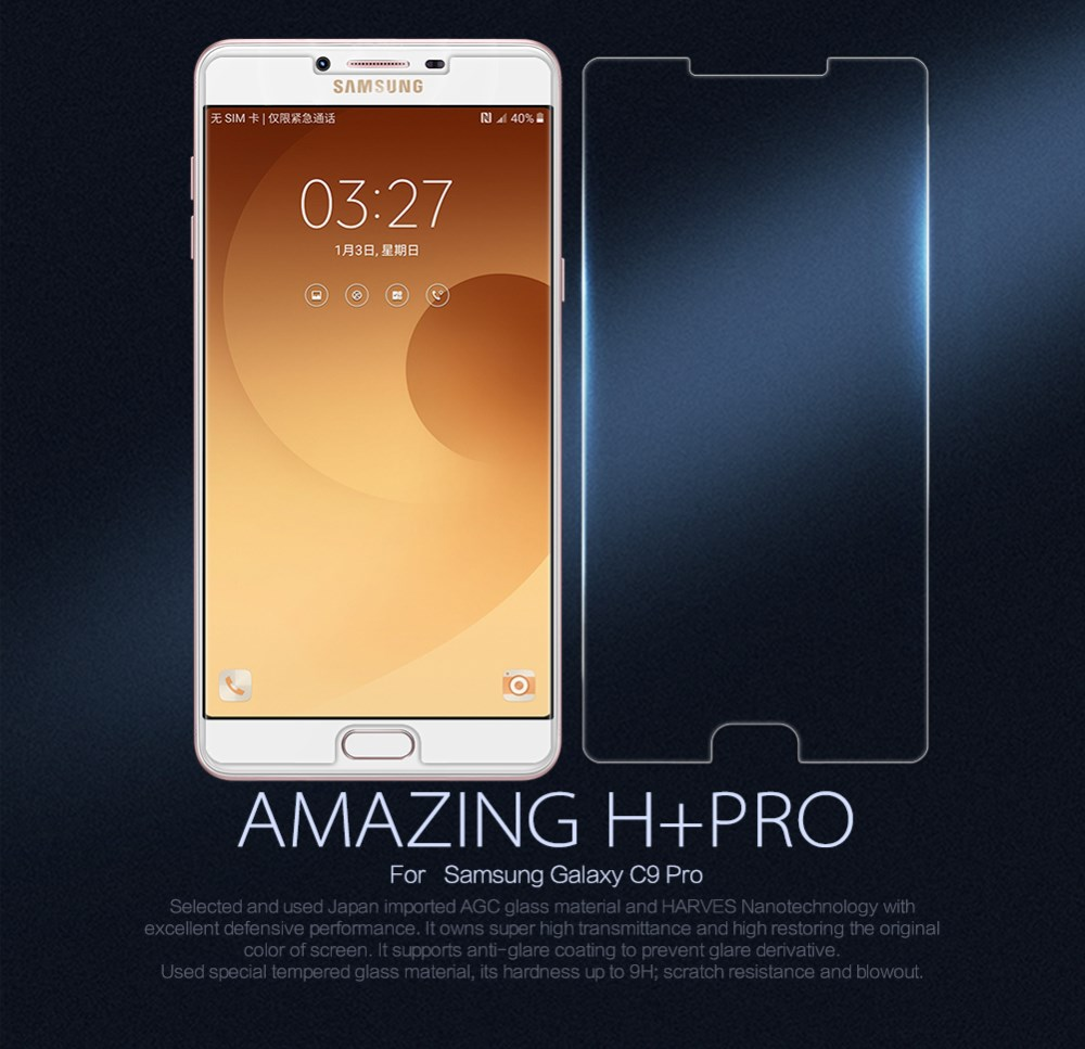 Samsung C9 Pro Tempered Glass Screen Protector