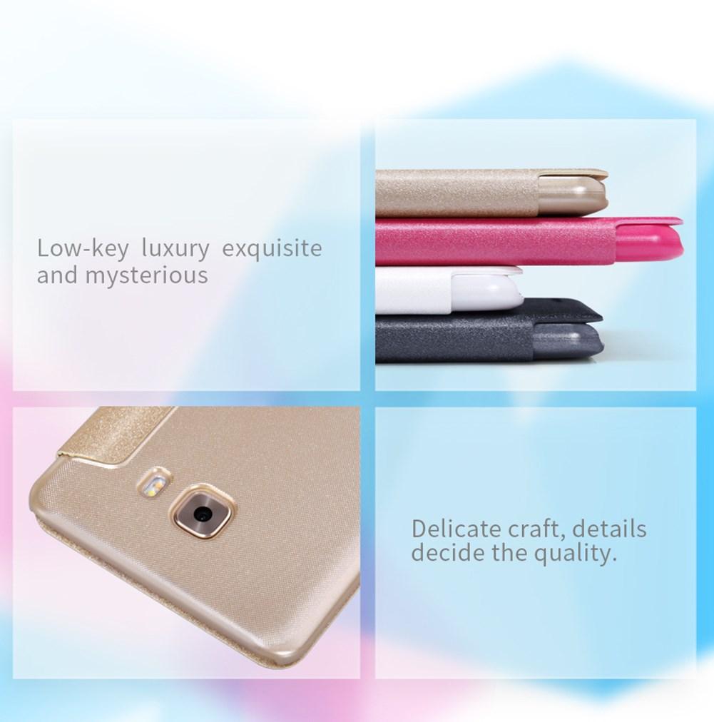 Samsung C9 Pro Leather Flip Case
