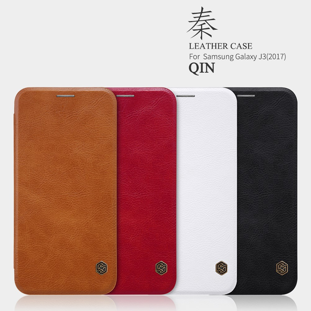 Nillkin Qin Series Leather Flip Case For Samsung J3 2017