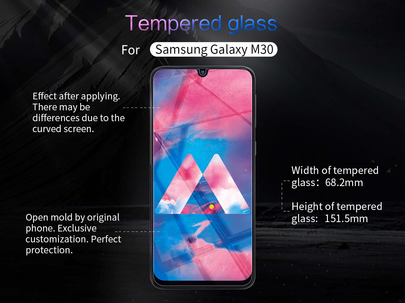 Samsung Galaxy M30 screen protector