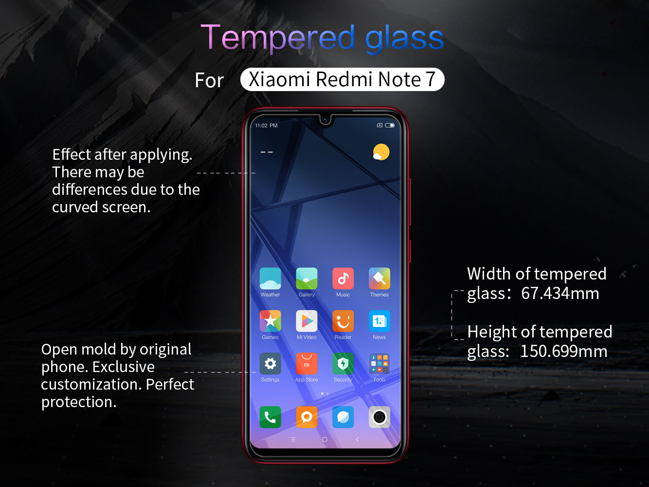 XIAOMI Redmi Note 7 screen protector