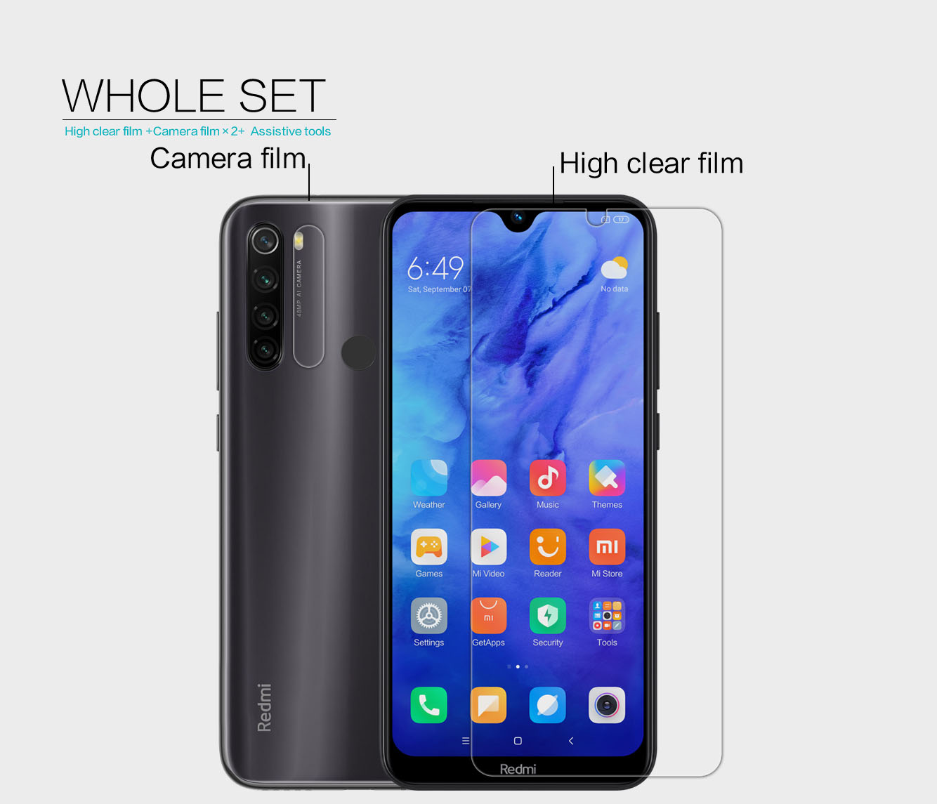 Xiaomi Redmi Note 8T screen protector