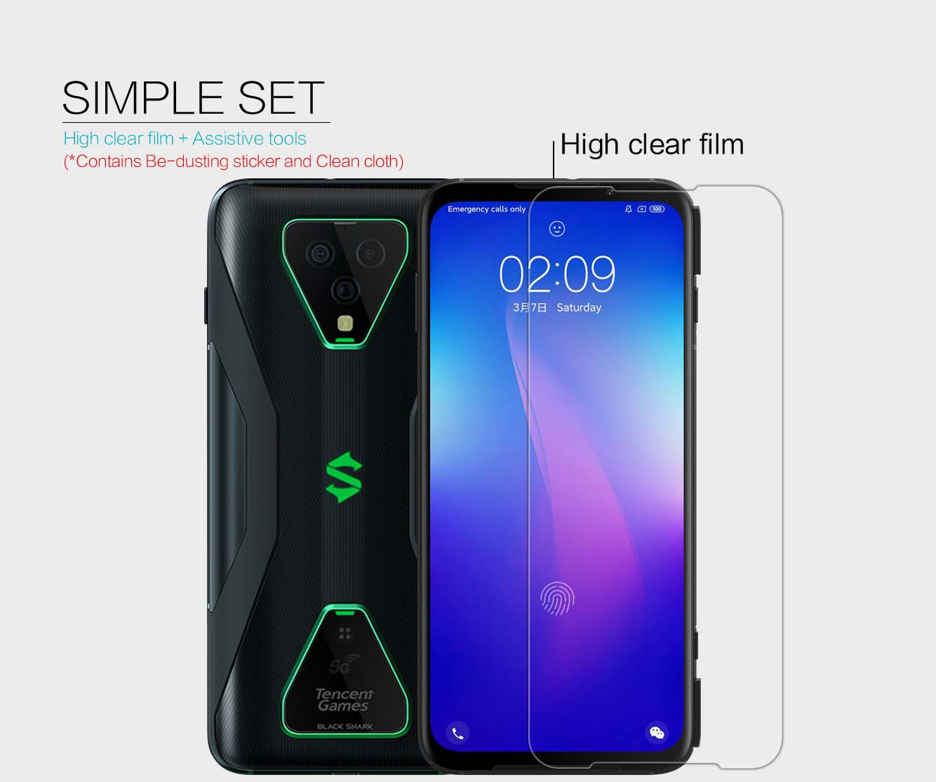 Xiaomi Black Shark 3 Pro screen protector